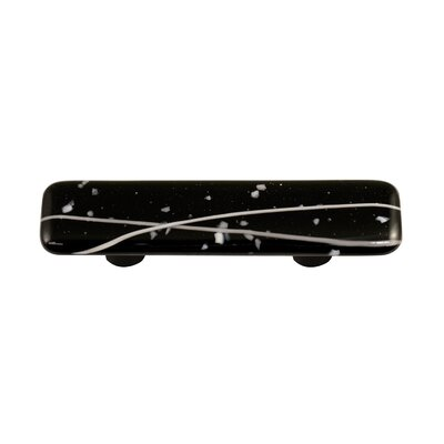 Hot Knobs Mardi Gras Cabinet Pull in White / Black