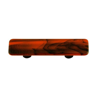 Swirl Cabinet Pull in Black / Opal Orange