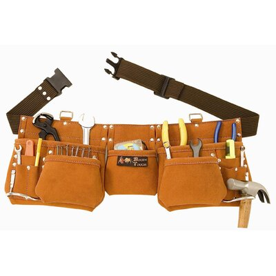 11 Pocket Suede Leather Tool Pouch Bag Belt / Tool Apron