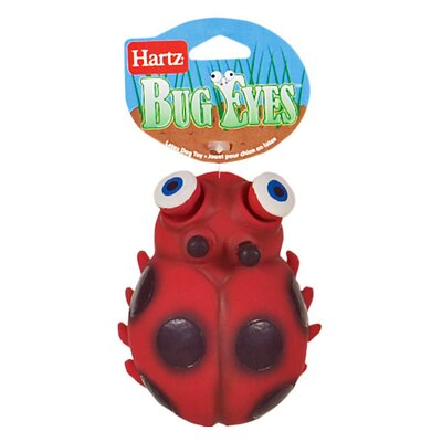 Hartz Bug Eyes Ladybug Dog Toy