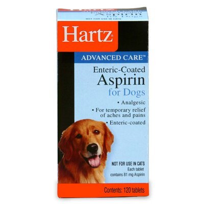 Hartz Advanced Care Enteric-Coated Aspirin for Dog (120 Count)