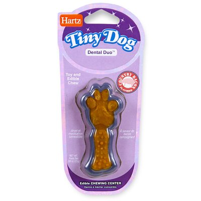 Hartz Tiny Dog Dental Duo Dog Toy Edible Chew Combo