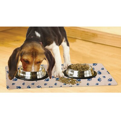 Paw Print Dog Place Mat