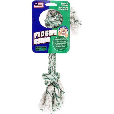 Petsport USA Medium Flossy Bone Dog Toy