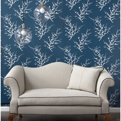 Tempaper Edie Temporary Wallpaper in Frosted Teal