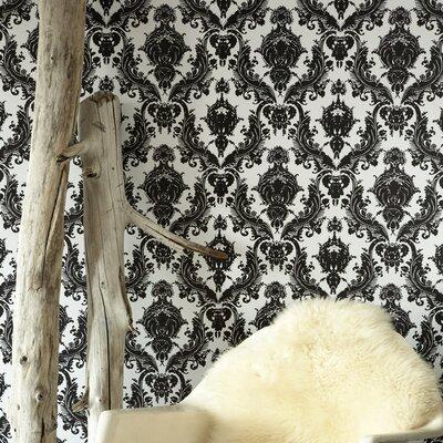 Tempaper damsel temporary damask wallpaper allmodern for Metallic removable wallpaper