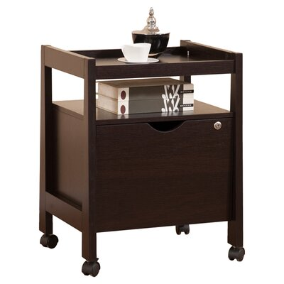 Hokku Designs 1-Drawer Hancock Modern Equipment Trolly/File Cabinet