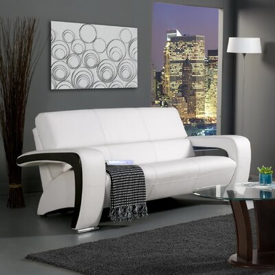 Hokku Designs Nova Leatherette Sofa