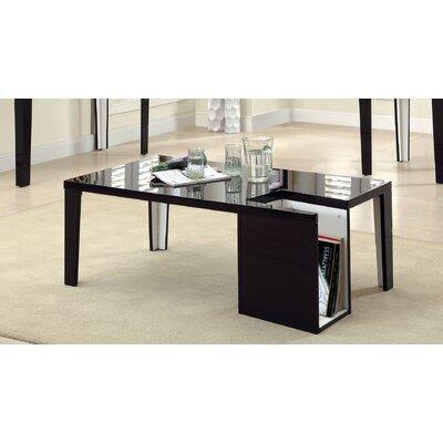 Hokku Designs Zedd Coffee Table with Magazine Rack