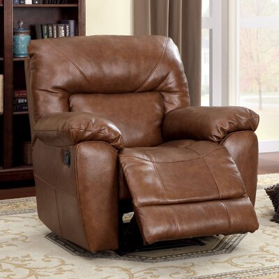 Hokku Designs Schwartz Genuine Leather Match Recliner