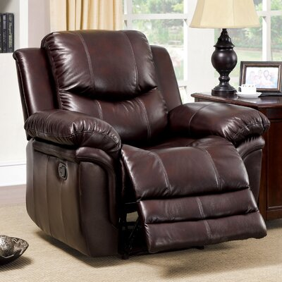 Hokku Designs Veigar Leather-Like Recliner