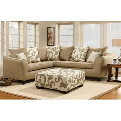 Hokku Designs Fiona Floral Sectional