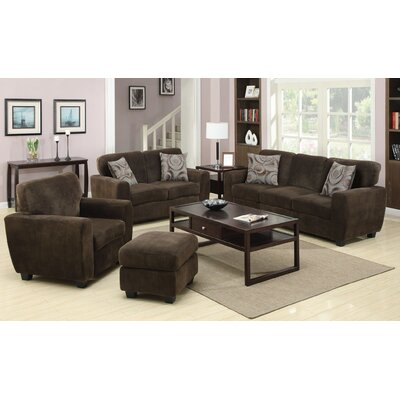 Hokku Designs Flannelette Padded Sofa Set