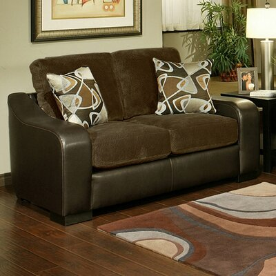 Hokku Designs Cortland Leather Loveseat