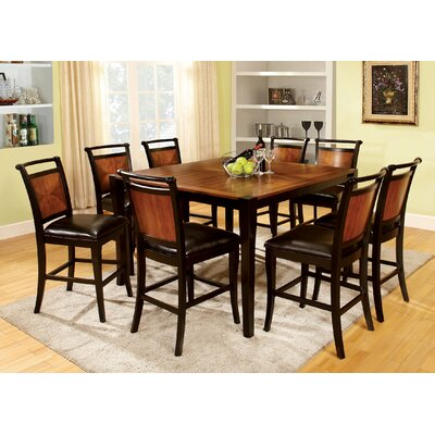 7 piece counter height dining room set furniture wood for 7 piece dining room set counter height
