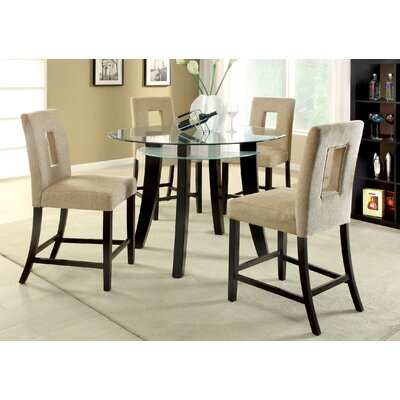 Hokku Designs Simply Unique 5 Piece Counter Height Dining Set