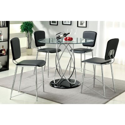 Hokku Designs 5 Piece Counter Height Dining Set