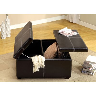 Hokku Designs Open Storage Leatherette Cocktail Ottoman