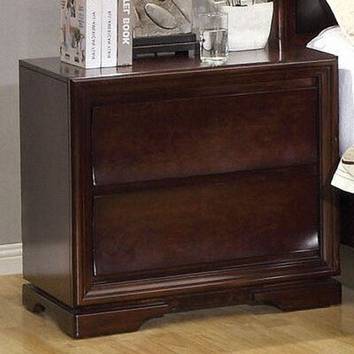 Hokku Designs Amber 2 Drawer Nightstand