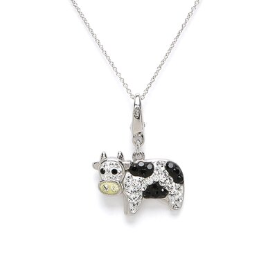 Crystal Cow Charm with Swarovski Elements