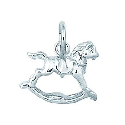 EZ Charms Sterling Silver Rocking Horse Charm
