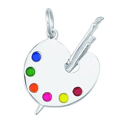 EZ Charms 2.2 Grams Sterling Silver Artist Pallet Charm