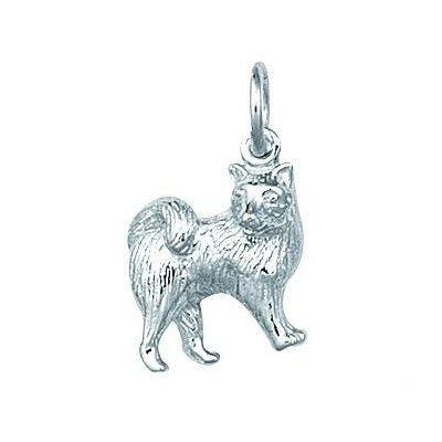 EZ Charms Sterling Silver Samoyed Dog Charm