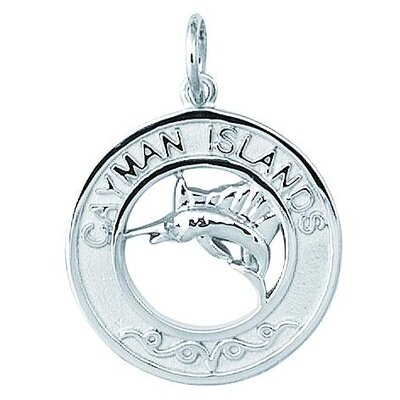Sterling Silver Cayman Islands with Marlin Disc Charm