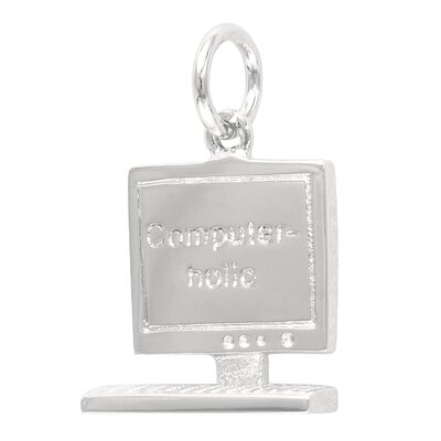 EZ Charms Sterling Silver Computerholic Charm