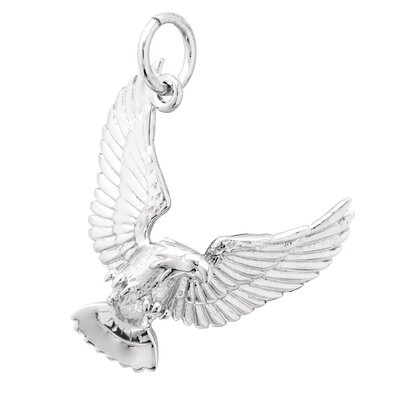 EZ Charms 2.6 Grams Sterling Silver Eagle Charm