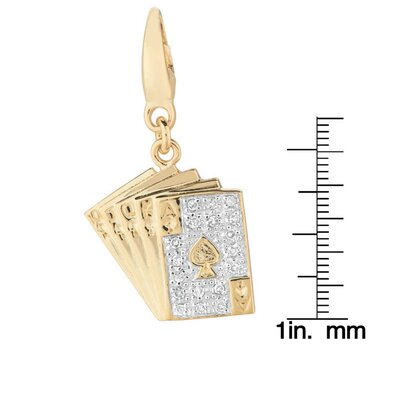 EZ Charms Playing Cards Charm in Gold