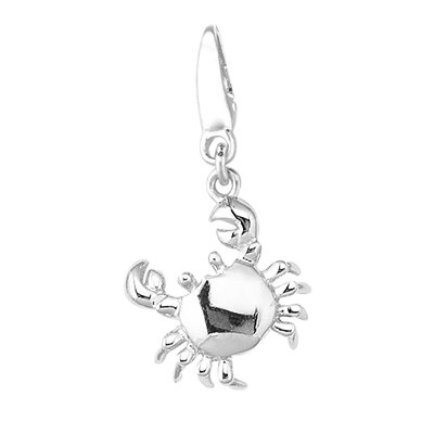 EZ Charms 1.6 Grams Sterling Silver Crab Charm