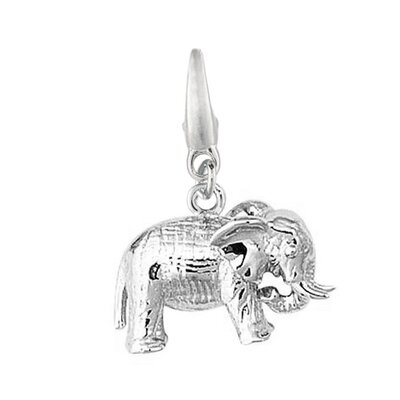 EZ Charms 3.4 Grams Sterling Silver Elephant Charm