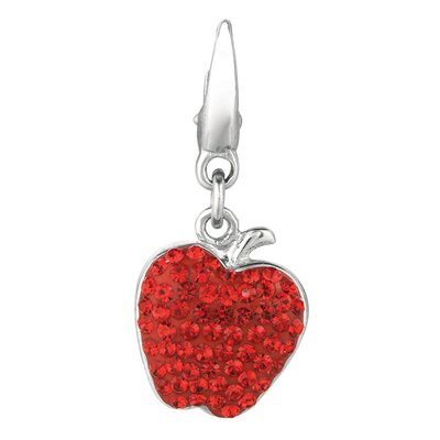 Crystal Apple Charm with Swarovski Elements