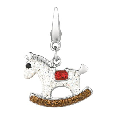 Crystal Rocking Horse Charm with Swarovski Elements