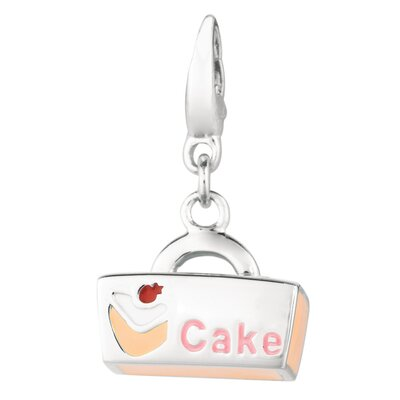 EZ Charms Sterling Silver Cake Box Charm