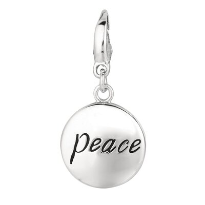 Sterling Silver Peace Disc Charm