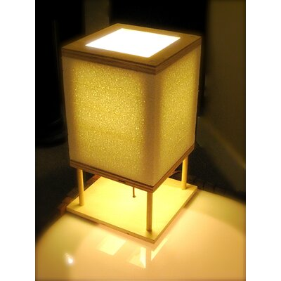 """Shiner International Square 14"""" H Table Lamp with Square Shade"""