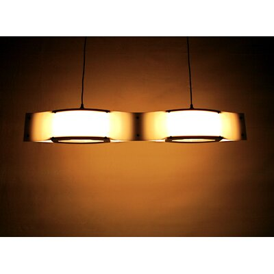Shiner International Double Wave 2 Light Mini Pendant