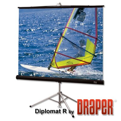 Draper Matte White Diplomat / R Portable Screen - 6' diagonal NTSC Format