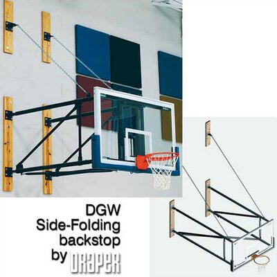 Draper DGW Side-Fold Wall Mounted Basketball Backstop