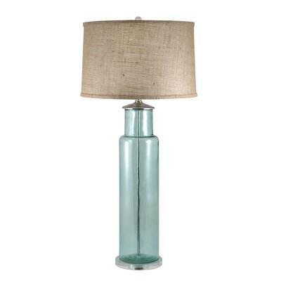 Lamp Works Recycled Glass Cylindrical Table Lamp