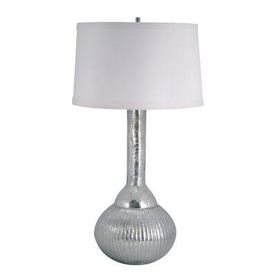 Lamp Works Mercury Glass Fluted Bulb Table Lamp