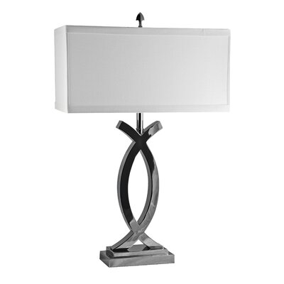 "Lamp Works Pisces 30"" H Table Lamp with Rectangle Shade"