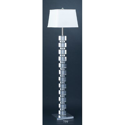 Lamp Works Crystal Square Cube Floor Lamp
