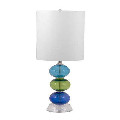 "Lamp Works Beaux  21"" H Table Lamp with Drum Shade"