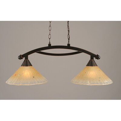 Toltec Lighting Bow 2 Light Kitchen Island Pendant