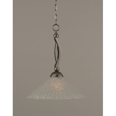 Toltec Lighting Bow Downlight Pendant with Italian Bubble Glass Shade