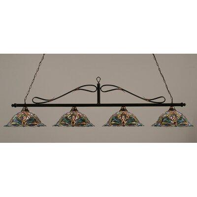 toltec lighting 4 light wrought iron rope kitchen island. Black Bedroom Furniture Sets. Home Design Ideas