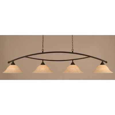 Bow 4 Light Kitchen Island Pendant